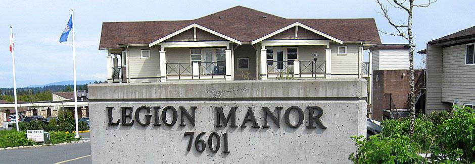Legion Manor sign